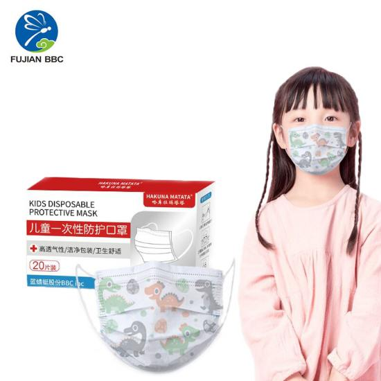3 PlyProtective Kids Face Mask 20PCS